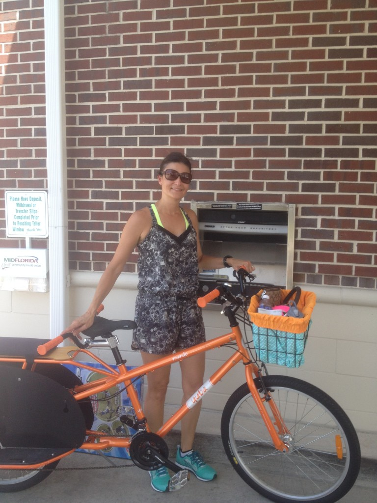 running errands on our yuba cargo bike