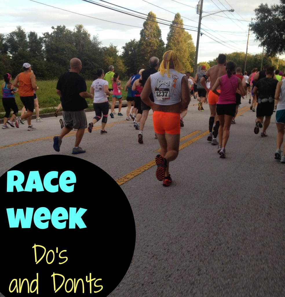 what not to do during race week