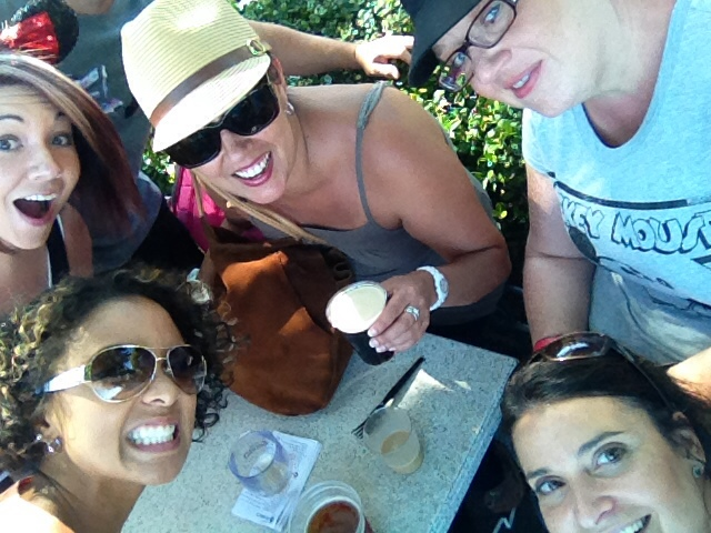 Fun with friends at Epcot's Food and Wine Festival.