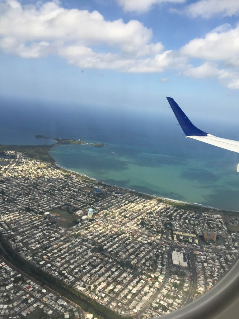 View of San Juan from airplane.