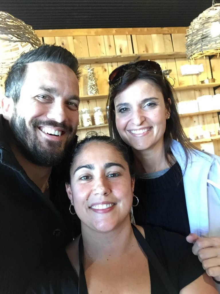 Fabio Viviani, Cynthia and I at the corner store in Plant City.