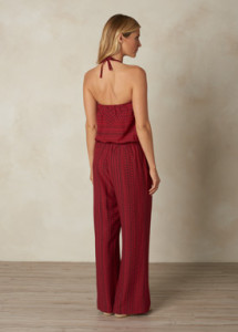 Sunwashed Red Jumpsuit